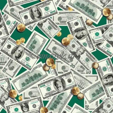 """Полотенце вафельное банное """"Доллары"""" 80х150"""