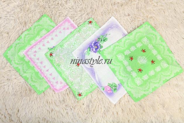 Носовые платки женские ситец Шуя